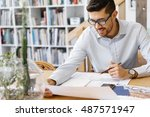 young man architect in office | Shutterstock . vector #487571947