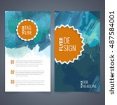 abstract vector brochure... | Shutterstock .eps vector #487584001