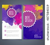 flyers design template vector... | Shutterstock .eps vector #487584019