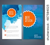 flyers design template vector... | Shutterstock .eps vector #487584025