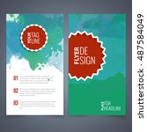 flyers design template vector... | Shutterstock .eps vector #487584049