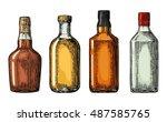set bottle for gin  rum ...   Shutterstock .eps vector #487585765
