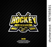 modern professional hockey... | Shutterstock .eps vector #487585831