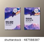 abstract business brochure... | Shutterstock .eps vector #487588387