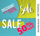 sale and special offer.... | Shutterstock .eps vector #487590931