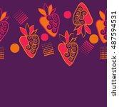 horizontal seamless pattern of... | Shutterstock .eps vector #487594531