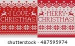 i love christmas  merry...   Shutterstock .eps vector #487595974