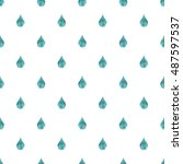 rain background blue watercolor ... | Shutterstock . vector #487597537