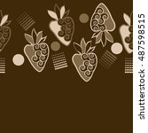 horizontal seamless pattern of... | Shutterstock .eps vector #487598515