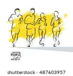 vector artistic hand drawn... | Shutterstock .eps vector #487603957
