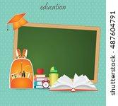 education design background... | Shutterstock .eps vector #487604791