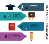 infographic education school... | Shutterstock .eps vector #487611781