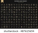 set vector line icons in flat...   Shutterstock .eps vector #487615654
