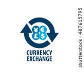 vector logo currency exchange   Shutterstock .eps vector #487615795