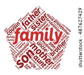 family relations word cloud | Shutterstock .eps vector #487627429