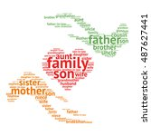 family relations word cloud | Shutterstock .eps vector #487627441