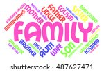 family relations word cloud | Shutterstock .eps vector #487627471