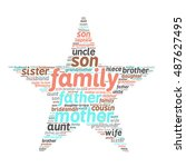 family relations word cloud | Shutterstock .eps vector #487627495