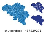 map of belgium | Shutterstock .eps vector #487629271