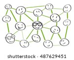 people network icons   vector... | Shutterstock .eps vector #487629451