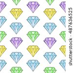 diamond pattern on white... | Shutterstock .eps vector #487636525