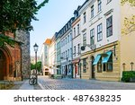 Stock photo a cozy street in berlin germany 487638235