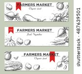 templates for label design with ... | Shutterstock . vector #487639501