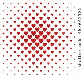 red and white heart pattern... | Shutterstock .eps vector #487642135