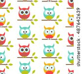 vector seamless pattern on the... | Shutterstock .eps vector #487642639