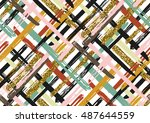 vector seamless pattern with... | Shutterstock .eps vector #487644559