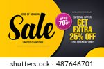 sale banner template design | Shutterstock .eps vector #487646701