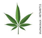 cannabis leaf icon isolated on... | Shutterstock .eps vector #487648711