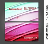 stylish business cards with... | Shutterstock .eps vector #487654801