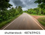 country road in thailand | Shutterstock . vector #487659421