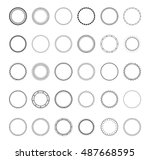 set abstract geometric shapes ... | Shutterstock .eps vector #487668595