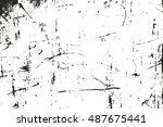 distressed overlay texture of... | Shutterstock .eps vector #487675441