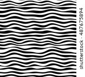 simple curved black and white...   Shutterstock .eps vector #487675894