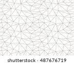 vector seamless pattern. modern ... | Shutterstock .eps vector #487676719
