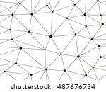 vector seamless pattern. modern ... | Shutterstock .eps vector #487676734