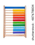 Wooden Abacus On White...