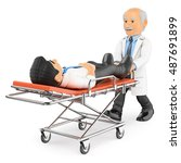 3d medical people illustration. ... | Shutterstock . vector #487691899