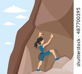 vector illustration. rock... | Shutterstock .eps vector #487700395