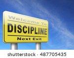 discipline and self motivation...   Shutterstock . vector #487705435