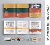 business brochure template...   Shutterstock .eps vector #487709614