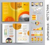 yellow business brochure...   Shutterstock .eps vector #487717444