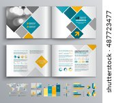 white business brochure... | Shutterstock .eps vector #487723477
