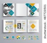 white business brochure... | Shutterstock .eps vector #487723501