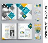 white business brochure...   Shutterstock .eps vector #487723507
