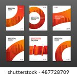 brochure cover design layout... | Shutterstock .eps vector #487728709