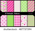 simple and elegant  pattern... | Shutterstock .eps vector #487737394